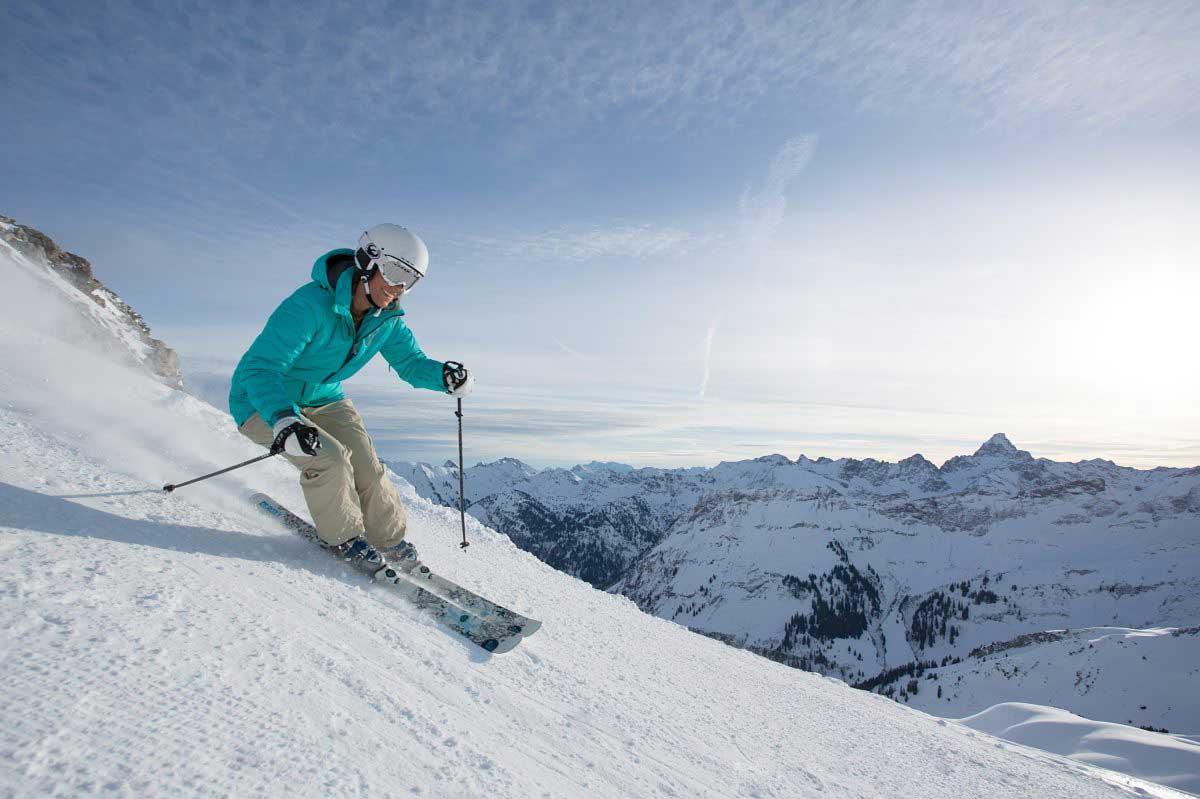 Skifahren for Designhotel skigebiet